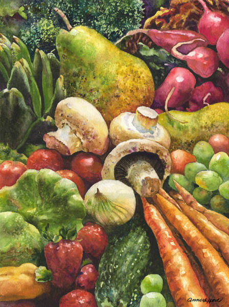 Wall Art - Painting - Bountiful by Anne Gifford