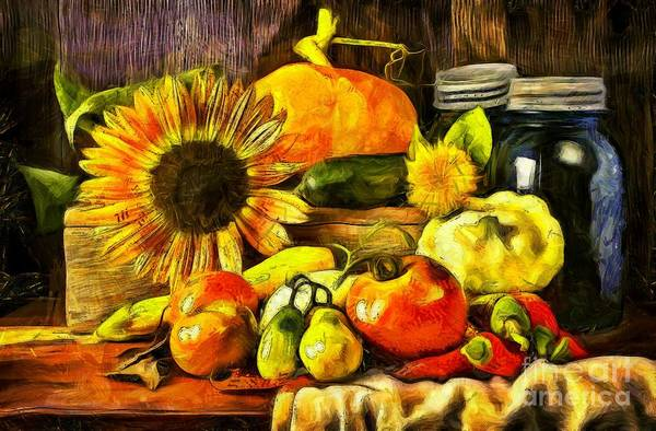 Sow Photograph - Bountiful Harvest Van Gogh Style by Edward Fielding