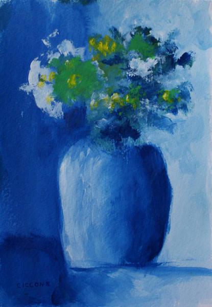 Bouquet In Blue Shadow Art Print