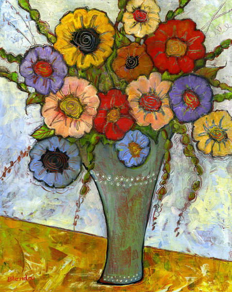 Wall Art - Painting - Bouquet Of Flowers by Blenda Studio