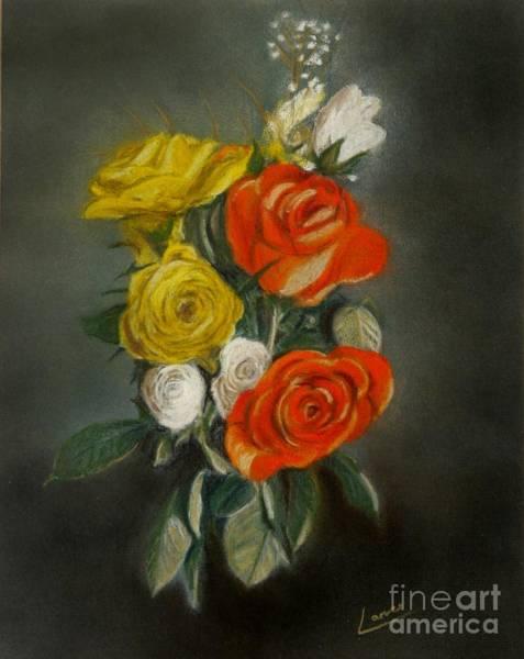 Pastel - Bouquet Of Flowers by Lance Sheridan-Peel