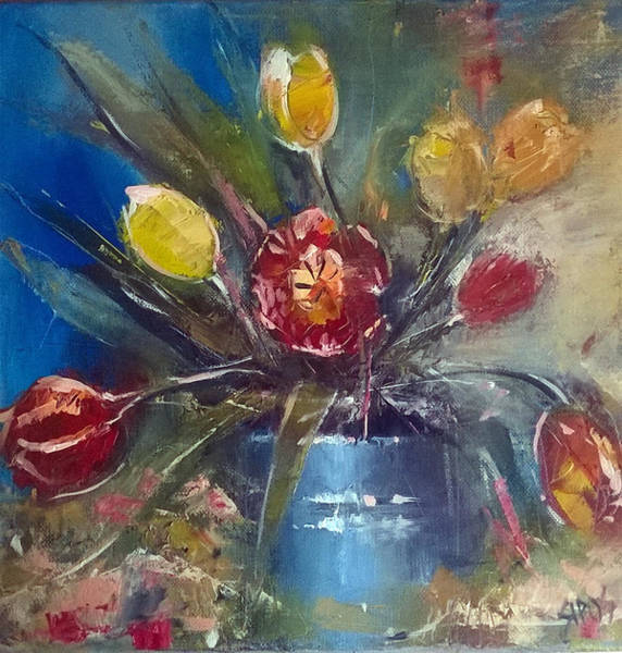 Painting - Bouquet Of Tulips by Lorand Sipos