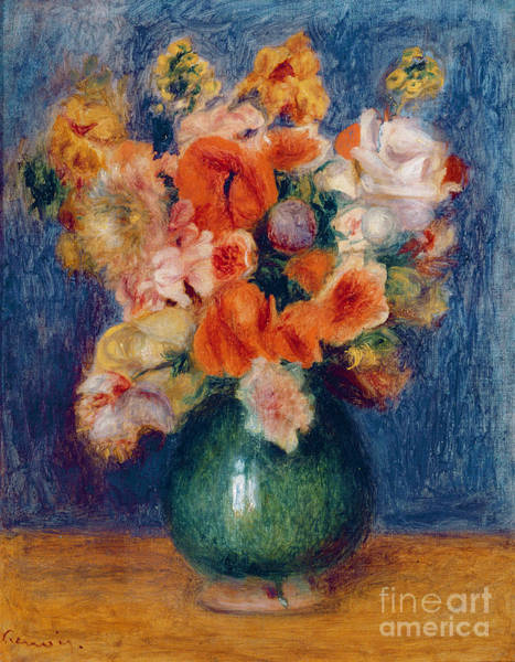 Bunch Painting - Bouquet by Pierre Auguste Renoir
