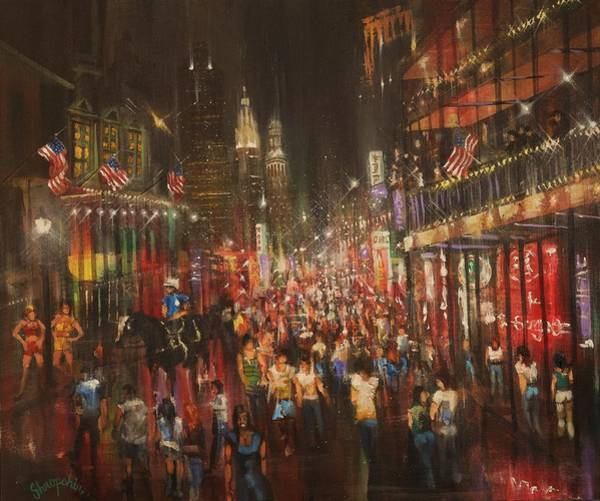 Bourbon Street Wall Art - Painting - Bourbon Street Baby by Tom Shropshire