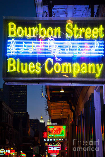 Bourbon Street Wall Art - Photograph - Bourbon Street Blues Company by Inge Johnsson