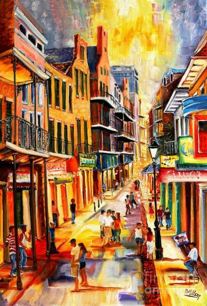 Bourbon Street Wall Art - Painting - Bourbon Street Mood by Diane Millsap