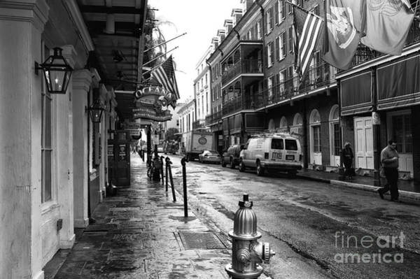 Wall Art - Photograph - Bourbon Street Morning Mono by John Rizzuto