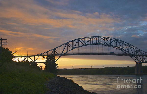 Photograph - Bourne Bridge Sunrise by Amazing Jules