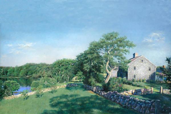 Cape Cod Painting - Bourne Farm Morning Cape Cod by Julia O'Malley-Keyes