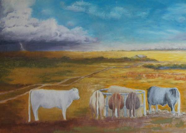 Gestation Painting - Bovine Theory by Abby Reid