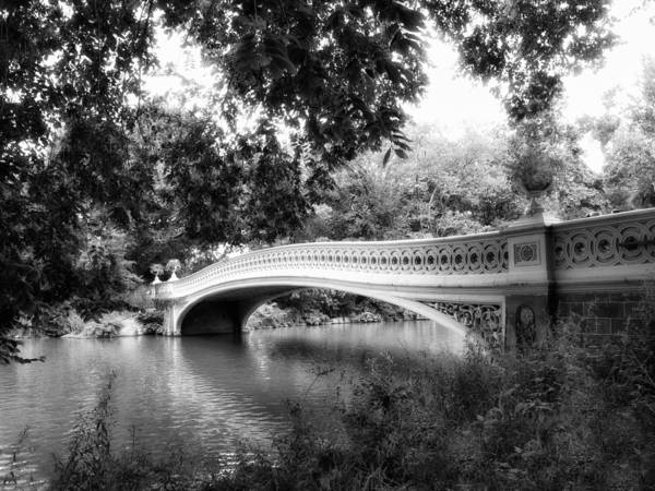 Photograph - Bow Bridge In Black And White by Jessica Jenney