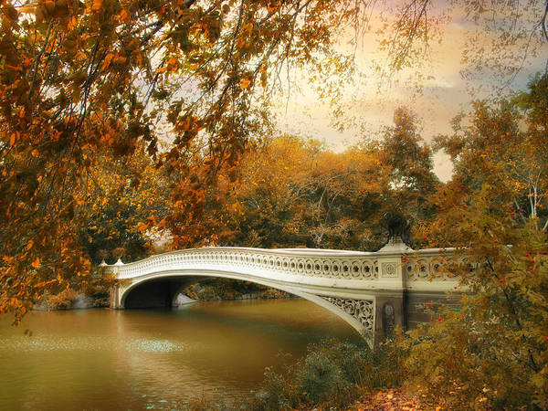 Photograph - Bow Bridge October by Jessica Jenney