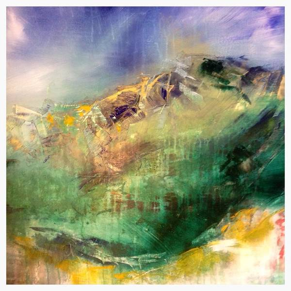 Wall Art - Painting - Bow Fell Two by Linda  Collins lamb