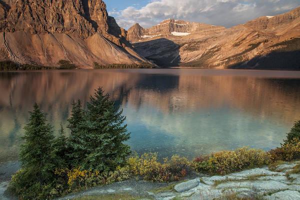 Photograph - Bow Lake Sunrise by D Robert Franz