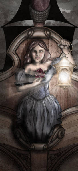 Dark Shadows Digital Art - Bow Maiden by April Moen