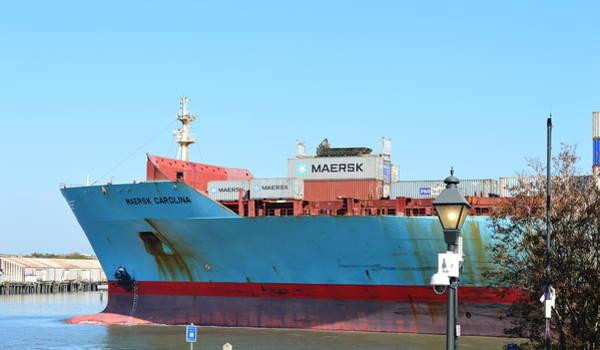 Wall Art - Photograph - Bow Of Maersk Carolina by Linda Covino