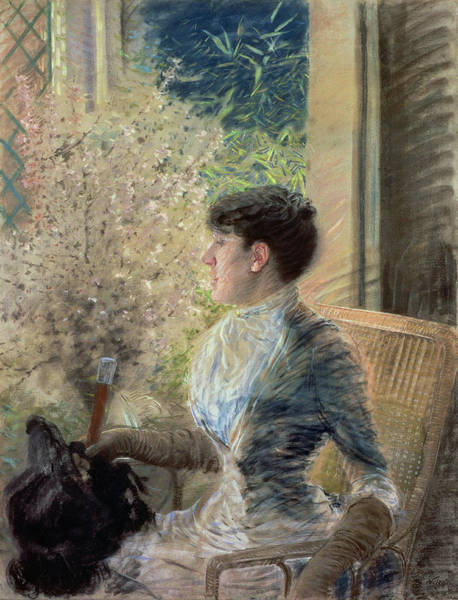 Cane Painting - Bow Window by Giuseppe Nittis