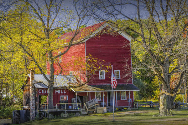 Photograph - Bowen's Cider Mill During Autumn by Randall Nyhof