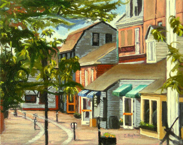 Wall Art - Painting - Bowen's Wharf Newport Rhode Island by Christine Hopkins