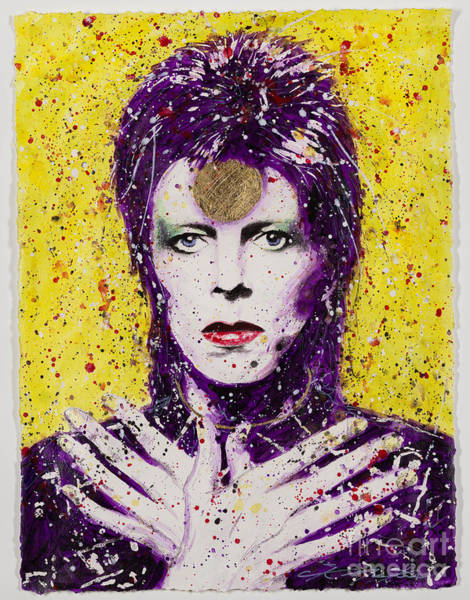 Ziggy Stardust Painting - Bowie by CK Mackie