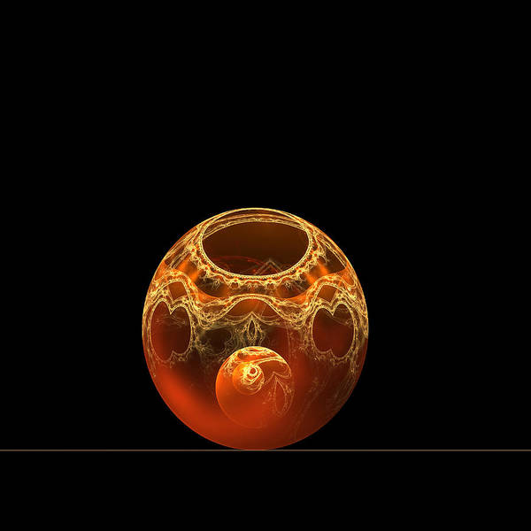 Wall Art - Digital Art - Bowl And Orb by Richard Ortolano