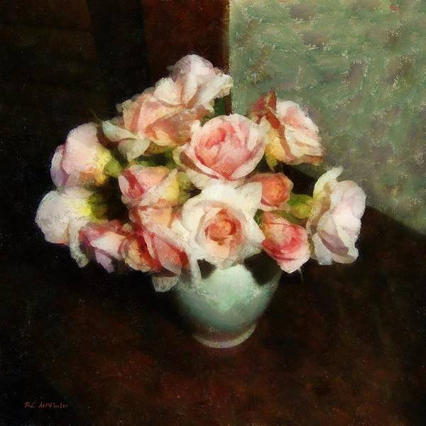 Painting - Bowl Full Of Blush by RC DeWinter
