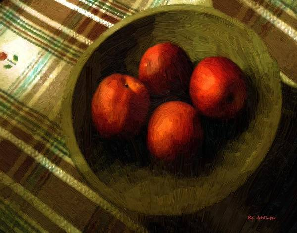Painting - Bowl Full Of Red by RC DeWinter