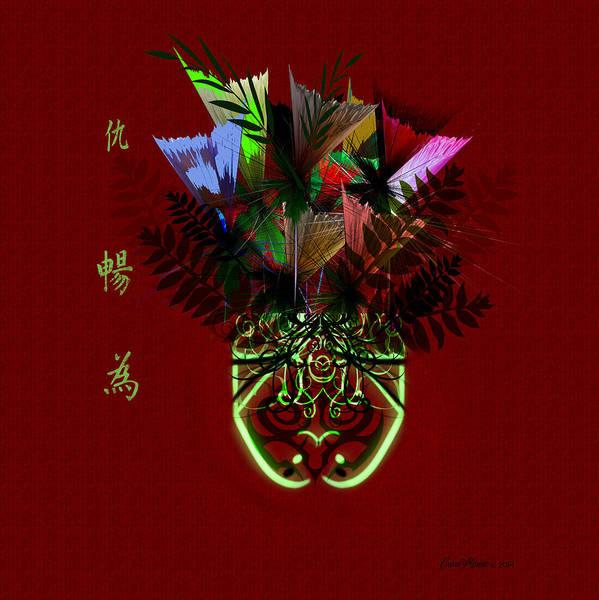 Digital Art - Bowl Full Of Wildflowers by Ericamaxine Price