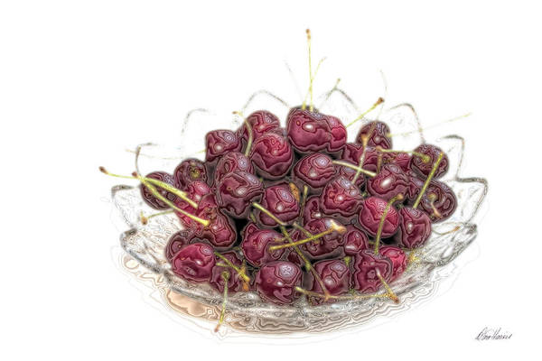 Photograph - Bowl Of Cherries by Diana Haronis