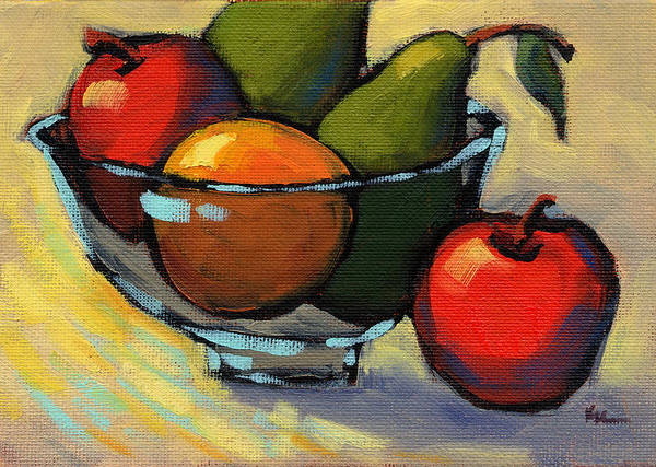 Painting - Bowl Of Fruit 5 by Konnie Kim