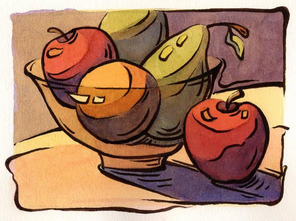 Bowl Of Fruit 8 Art Print