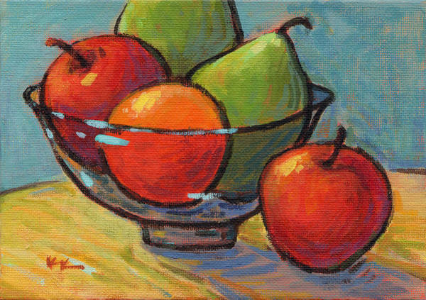 Painting - Bowl Of Fruit by Konnie Kim
