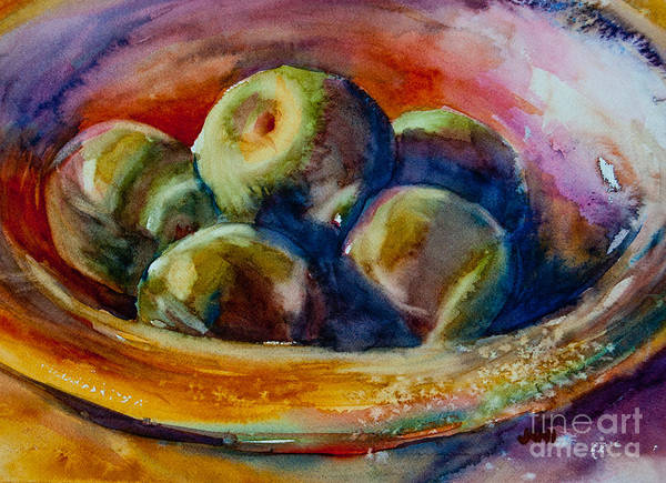 Painting - Bowl Of Grannies by Jani Freimann