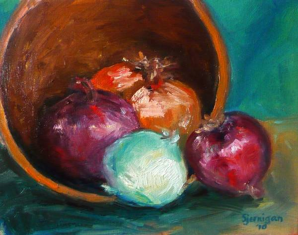 Wall Art - Painting - Bowl Of Onions by Susie Jernigan