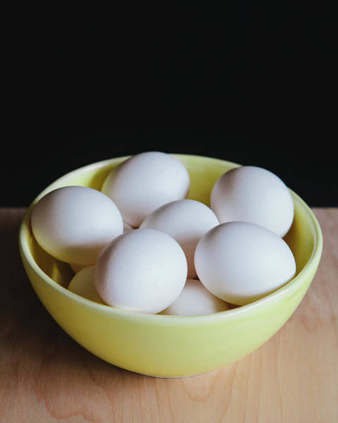 Toughness Photograph - Bowl Of Organic, Free Range White Eggs by Mint Images - Paul Edmondson