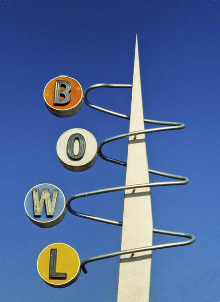 Vintage Neon Sign Photograph - Bowl Sign by Matthew Bamberg