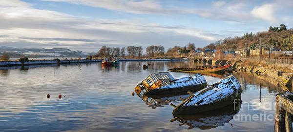 Clydebank Photograph - Bowling Harbour Panorama 01 by Antony McAulay