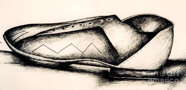 Drawing - Bowling Shoe by Jon Kittleson