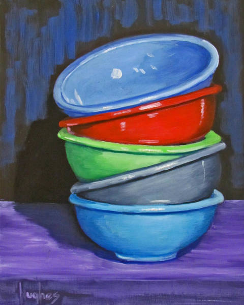 Painting - Bowls by Kevin Hughes