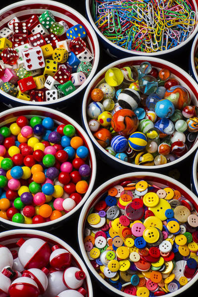 Wall Art - Photograph - Bowls Of Buttons And Marbles by Garry Gay