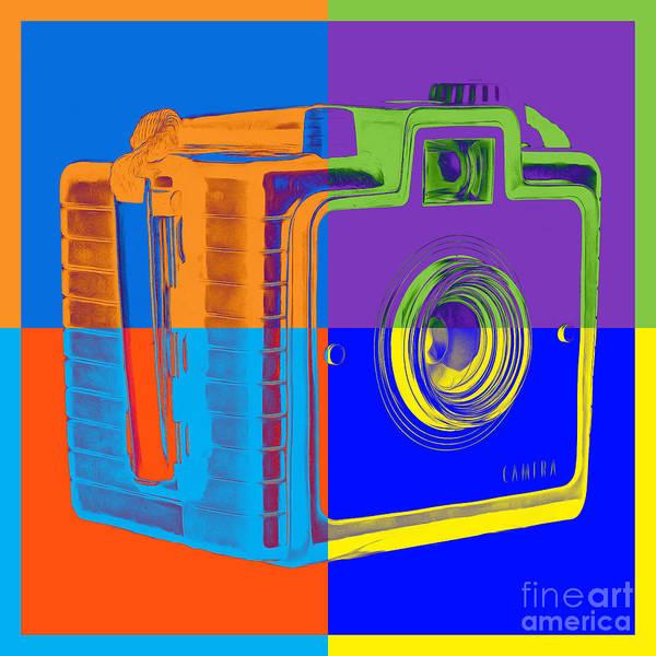 Wall Art - Photograph - Box Camera Pop Art 1 by Edward Fielding