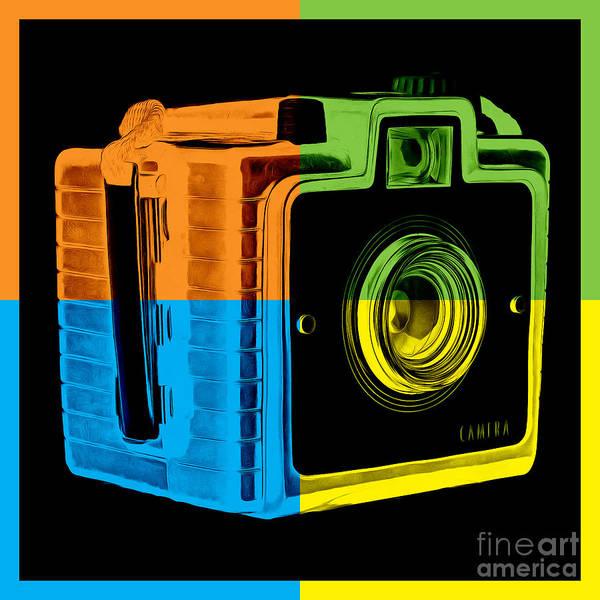Wall Art - Photograph - Box Camera Pop Art 2 by Edward Fielding