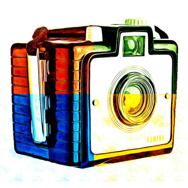 Wall Art - Photograph - Box Camera Pop Art 3 by Edward Fielding