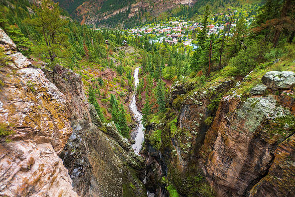 Wall Art - Photograph - Box Canyon And The Town Of Ouray by Russ Bishop