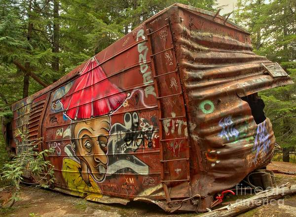 Photograph - Box Car Crash In British Columbia by Adam Jewell
