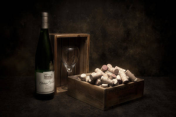 Bottles Photograph - Box Of Wine Corks Still Life by Tom Mc Nemar