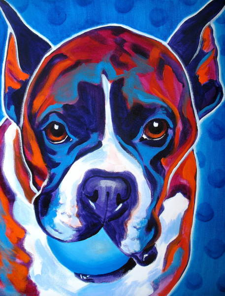 Wall Art - Painting - Boxer - Atticus by Alicia VanNoy Call