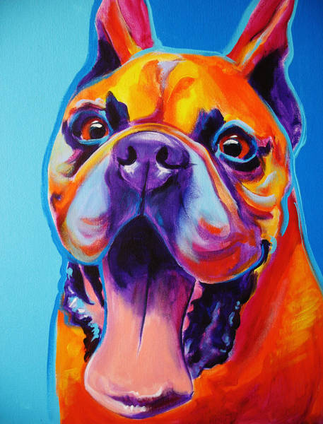 Wall Art - Painting - Boxer - Tyson by Alicia VanNoy Call