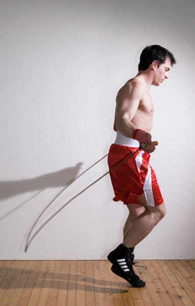 Skip Wall Art - Photograph - Boxer Skipping by Gustoimages/science Photo Library