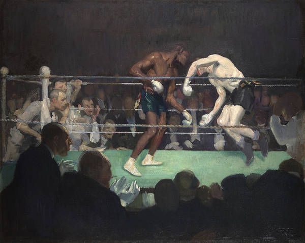 Boxing Painting - Boxing Match, 1910 by George Luks